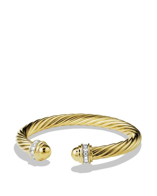 David Yurman - Yellow Cable Classics Bracelet With Diamonds & Gold - Lyst