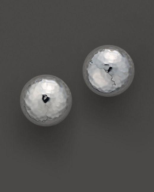 "Ippolita - Metallic Sterling Silver ""pinball"" Earrings - Lyst"