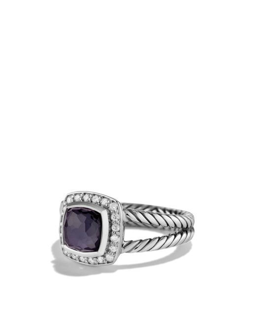 David Yurman - Petite Albion Ring With Black Orchid & Diamonds - Lyst