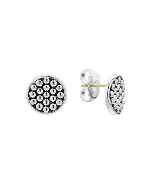 Lagos - Metallic Sterling Silver Bold Caviar Button Stud Earrings - Lyst