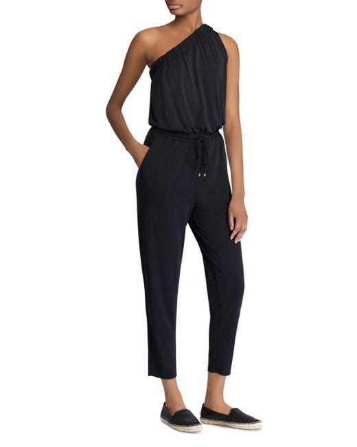 Ralph Lauren - Black Lauren One-shoulder Jumpsuit - Lyst