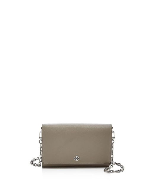 Tory Burch | Multicolor Robinson Saffiano Leather Chain Wallet | Lyst