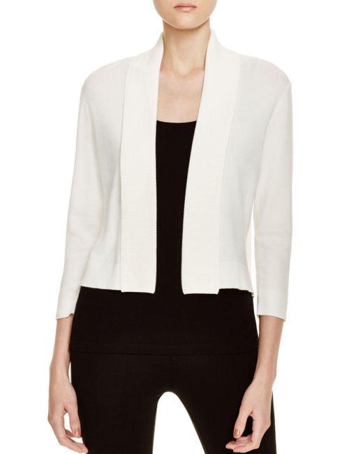 Calvin Klein - White Cropped Cardigan - Lyst