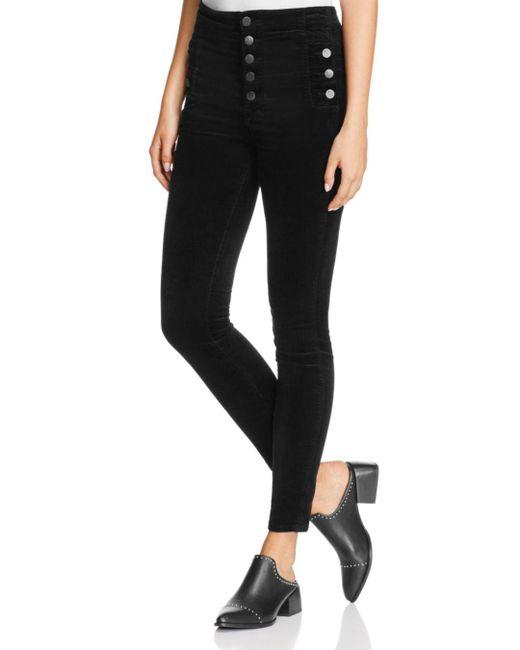 J Brand - Natasha Sky-high Skinny Jeans In Black - Lyst