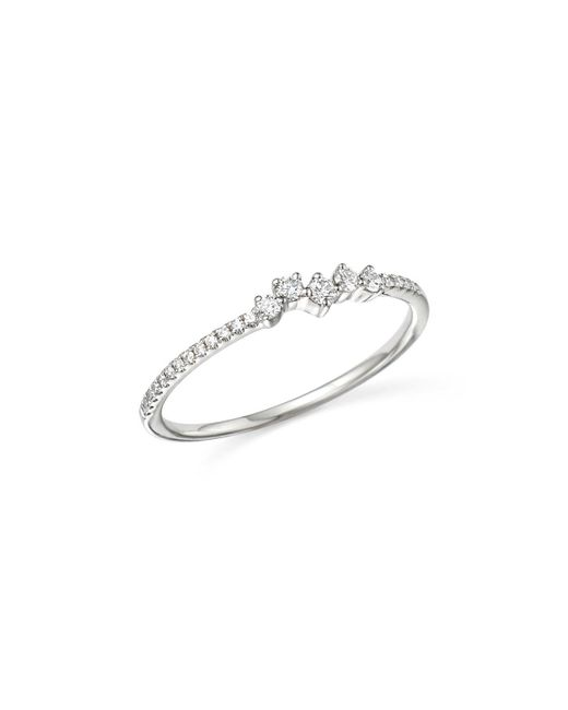 KC Designs | 14k White Gold Mosaic Diamond Stacking Ring | Lyst
