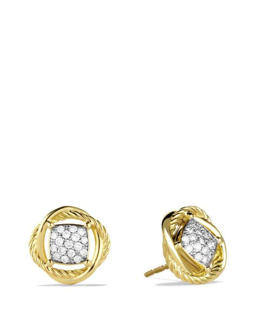 David Yurman - Yellow Infinity Earrings With Diamonds - Lyst