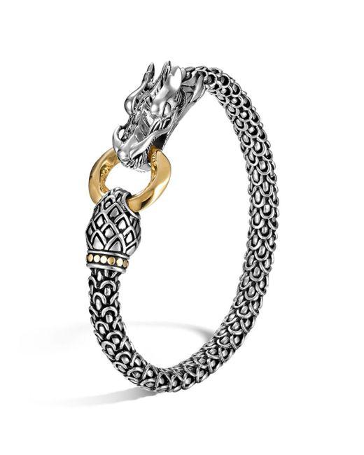 John Hardy - Metallic Sterling Silver & 18k Gold Naga Dragon Bracelet - Lyst