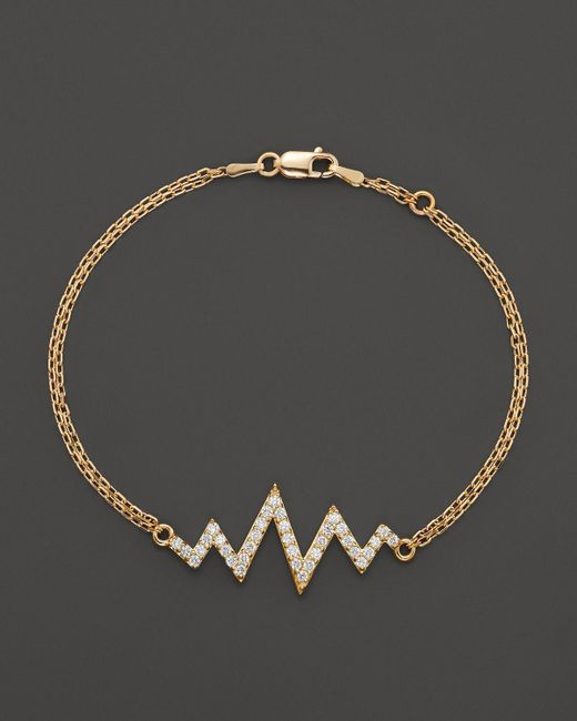 Khai Khai | Diamond Mini Shockwave Bracelet In 18k Yellow Gold, .5 Ct. T.w. | Lyst