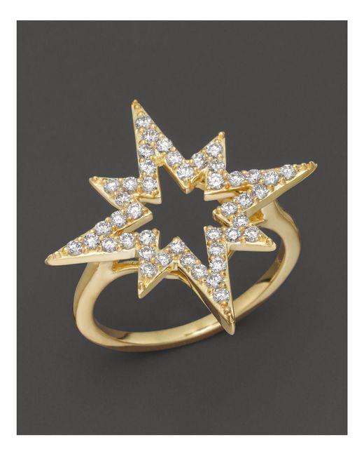 Khai Khai | Diamond Starsplosion Ring In 18k Yellow Gold, .5 Ct. T.w. | Lyst