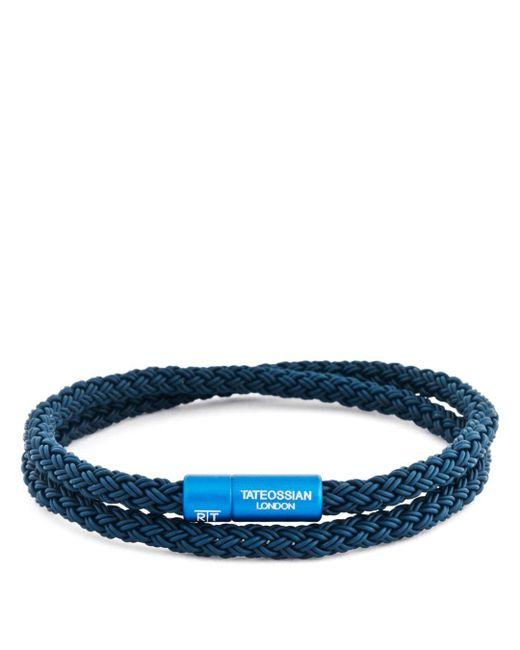 Tateossian - Blue Rubber Cable Bracelet for Men - Lyst