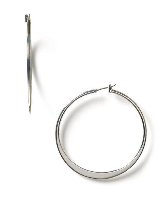 Ralph Lauren - Metallic Lauren By Large Knife Edge Hoop Earrings - Lyst