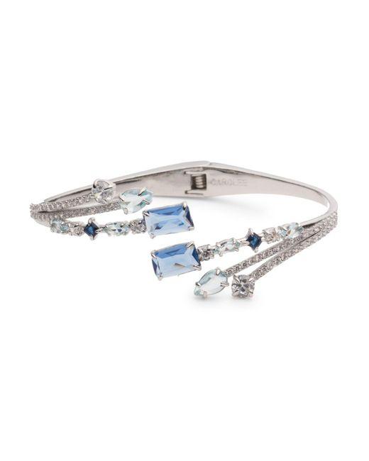 Carolee - Metallic Bypass Hinged Cuff Bracelet - Lyst