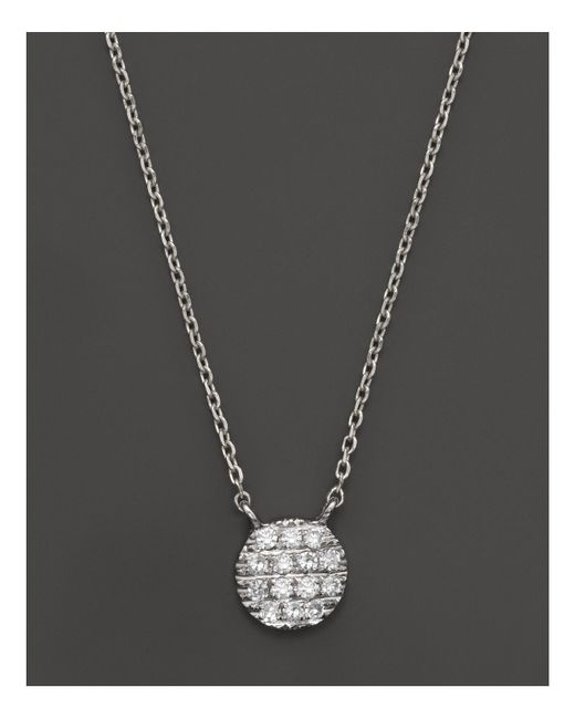 Dana Rebecca | Metallic 14k White Gold Lauren Joy Mini Necklace With Diamonds | Lyst
