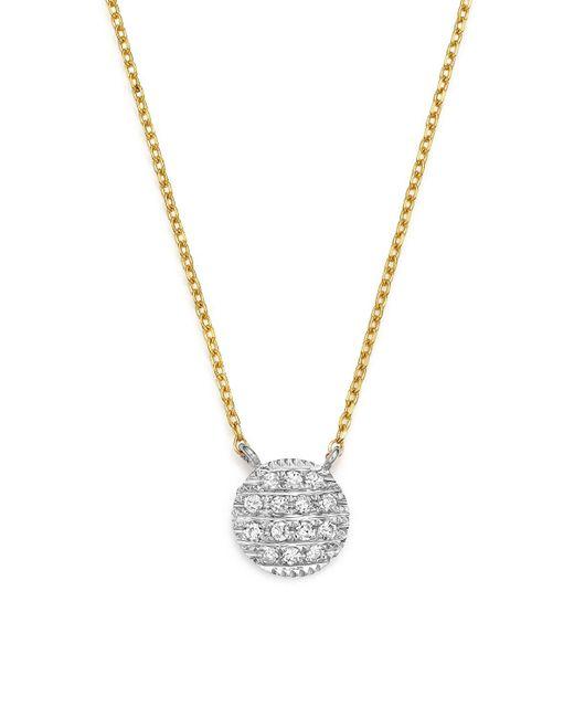 Dana Rebecca   Metallic 14k White & Yellow Gold Lauren Joy Mini Necklace With Diamonds   Lyst