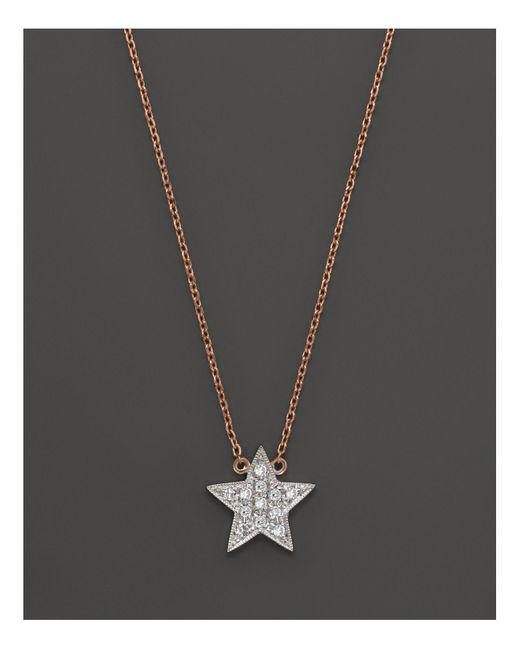 Dana Rebecca | Pink Diamond Julianne Himiko Star Necklace In 14k White Gold With 14k Rose Gold Chain, 16"