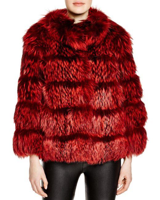 Maximilian - Red Maximilian Nafa Fox Fur Coat - Lyst