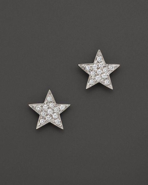 Dana Rebecca | Diamond Julianne Himiko Star Earrings In 14k White Gold | Lyst