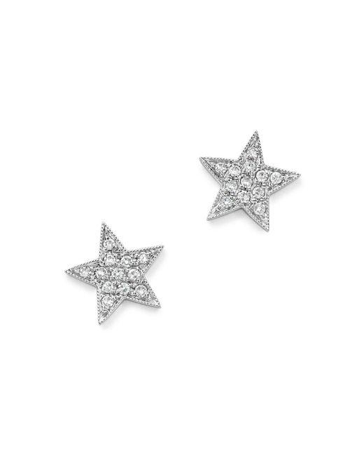 Dana Rebecca   Diamond Julianne Himiko Star Earrings In 14k White Gold   Lyst