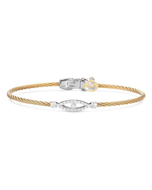 Alor - Metallic Diamond Bangle - Lyst