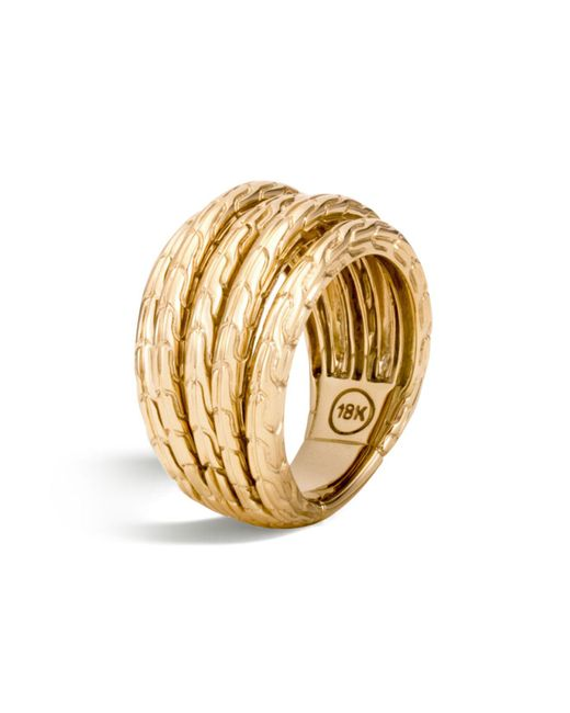 John Hardy | Metallic 18k Yellow Gold Classic Chain Five Row Ring | Lyst