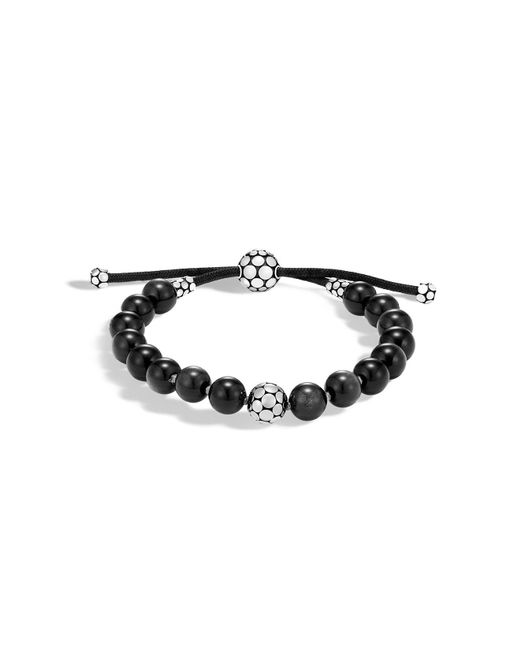 John Hardy | Multicolor Sterling Silver Dot Bead Bracelet With Obsidian | Lyst