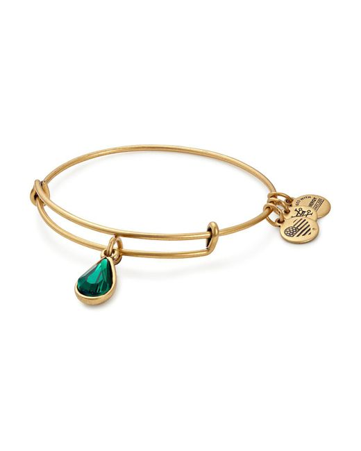 ALEX AND ANI - Metallic May Swarovski Crystal Birthstone Expandable Wire Bangle - Lyst
