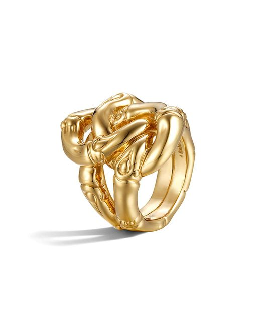 John Hardy | Metallic Bamboo 18k Yellow Gold Knot Ring | Lyst