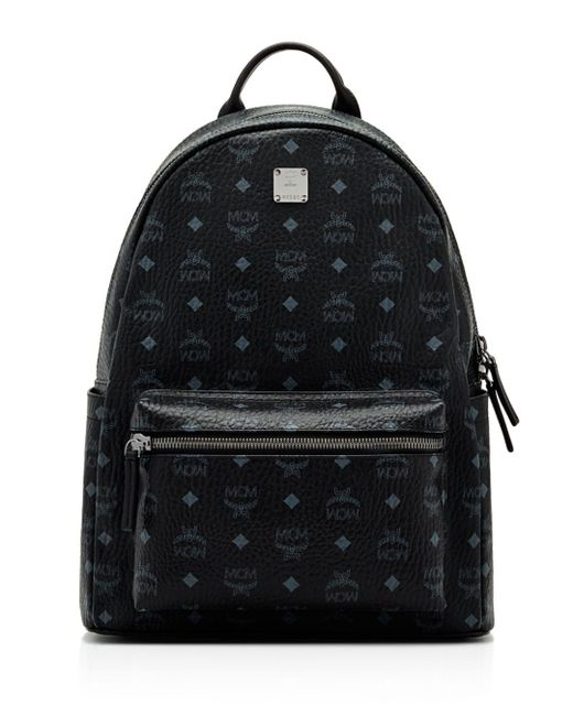 MCM - Black Visetos Medium Stark Backpack for Men - Lyst