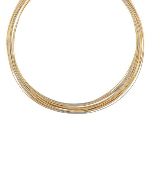 Alor - Metallic Rose & Yellow Multi-strand Cable Choker Necklace - Lyst