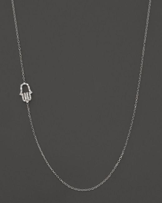 KC Designs   Diamond Hamsa Necklace In 14k White Gold, .07 Ct. T.w. - 100% Exclusive   Lyst