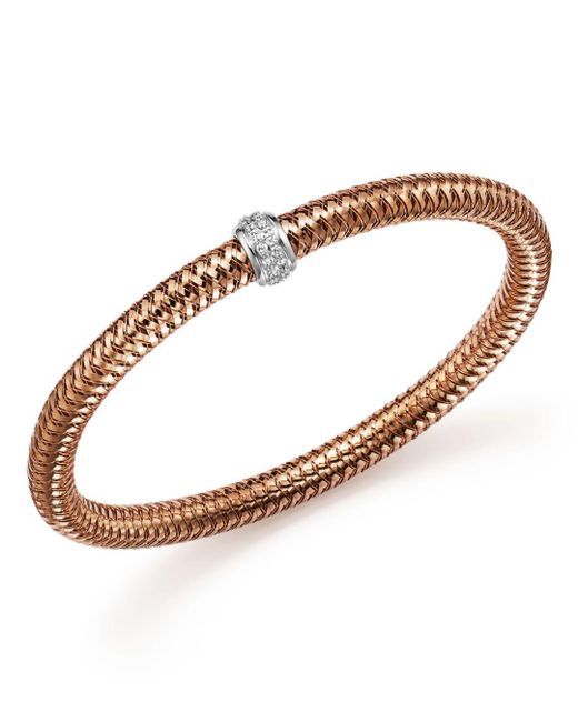 Roberto Coin - Metallic 18k Rose Gold Primavera Stretch Bracelet With Diamonds - Lyst