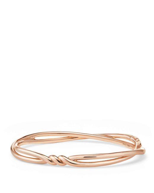 David Yurman - Metallic Continuance Center Twist Bracelet In 18k Rose Gold - Lyst