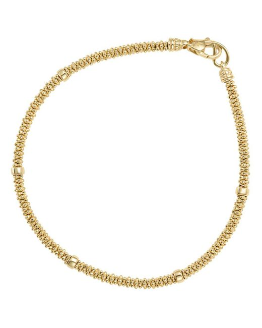 Lagos - Metallic Caviar Gold Collection 18k Gold Beaded Rope Bracelet - Lyst