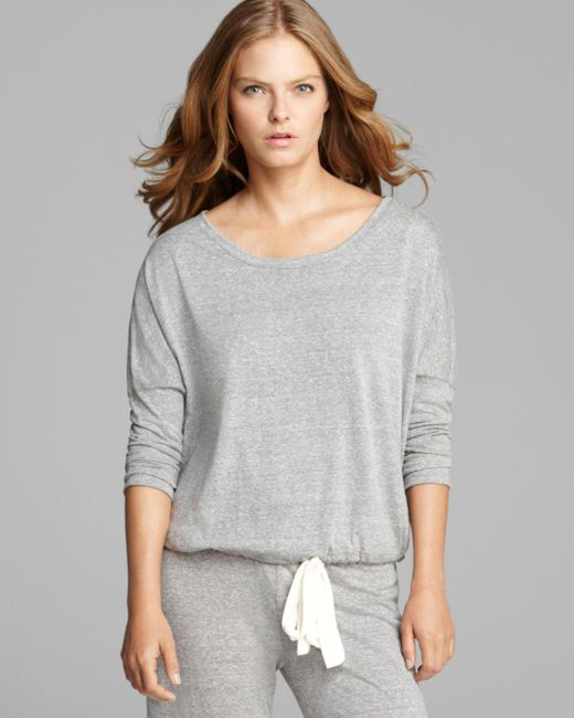 Eberjey - Gray Heather Slouchy Tee - Lyst