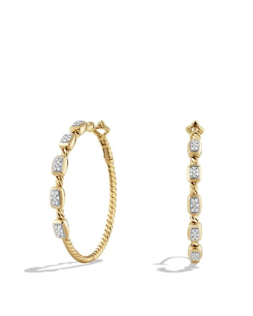 David Yurman | Metallic Confetti Hoop Earrings With Diamonds In Gold | Lyst
