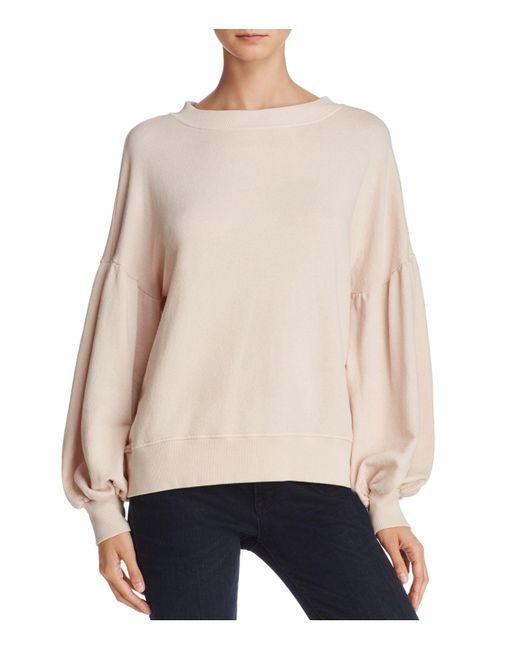 Joie - Pink Isae Balloon-sleeve Sweatshirt - Lyst