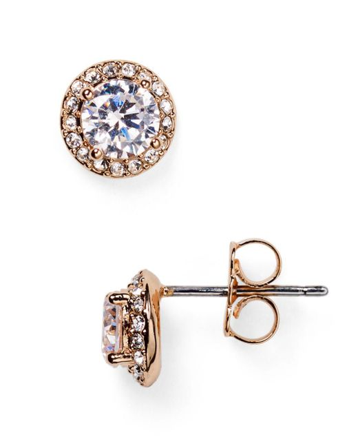Nadri - Metallic Pavé Stud Earrings - Lyst