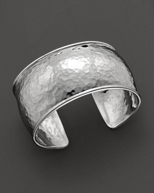 Ippolita - Metallic Sterling Silver Hammered Flat Cuff - Lyst