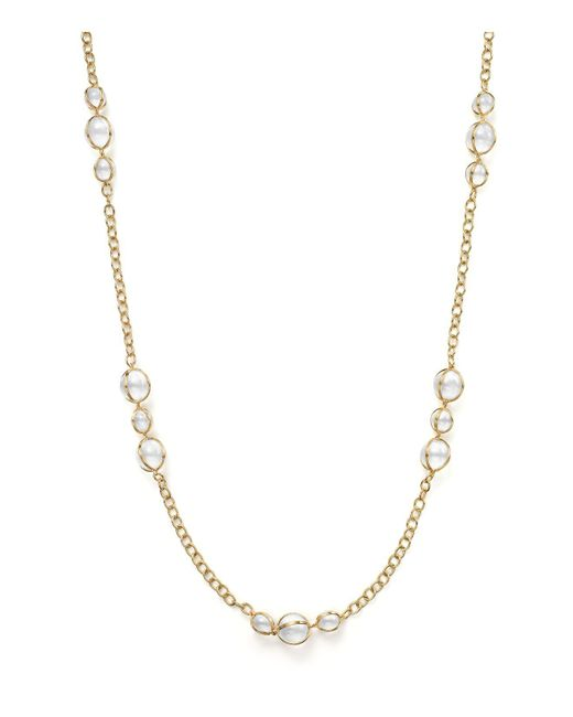 Temple St. Clair - Metallic 18k Gold Amulet Necklace With Rock Crystal And Diamonds - Lyst