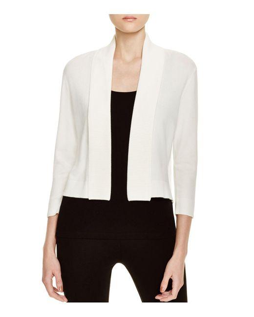 Calvin Klein | White Cropped Cardigan | Lyst