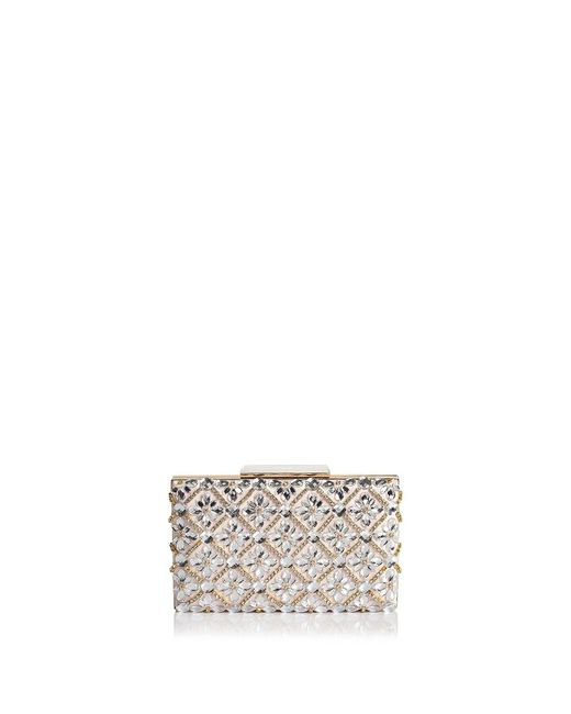 Sondra Roberts - Metallic Jeweled Satin Box Clutch - Lyst