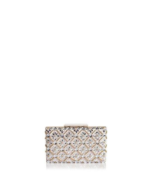 Sondra Roberts | Metallic Jeweled Satin Box Clutch | Lyst