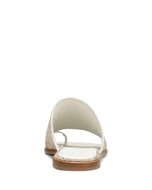 74a1f573d354 Lyst - Vince Women s Edan Linen Slide Sandals in White