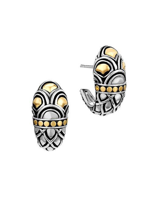 John Hardy | Metallic Sterling Silver & 18k Gold Naga Shrimp Earrings | Lyst