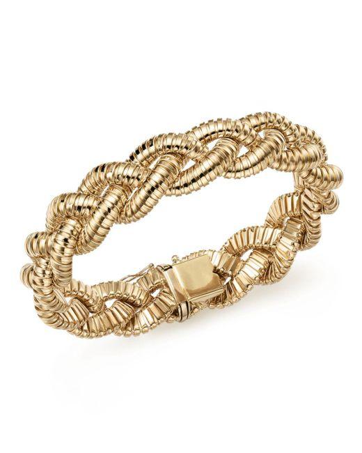 Bloomingdale's - Metallic 14k Yellow Gold Braided Tubogas Bracelet - Lyst