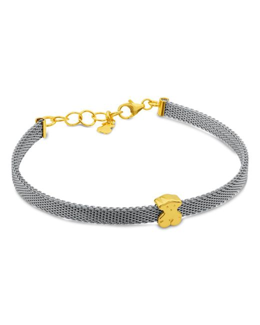 Tous - Metallic Bear Mesh Bracelet - Lyst