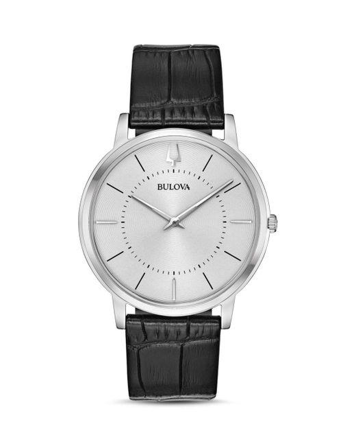 Bulova Metallic Classic Slim Watch for men