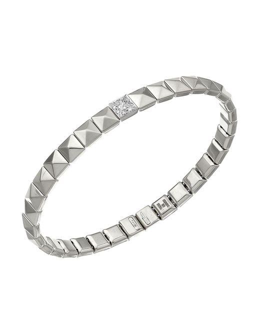 Chimento | Metallic 18k White Gold Armillas Pyramis Collection Square Link Bracelet With Diamonds | Lyst
