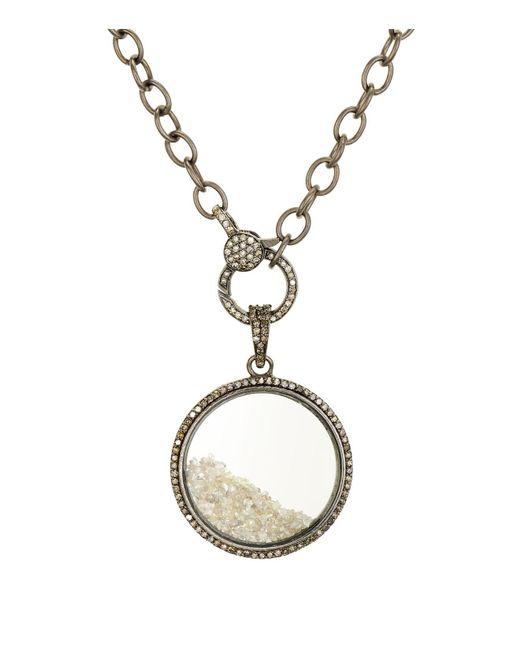 Ela Rae - Metallic Sterling Silver & Diamond Circle Pendant Necklace - Lyst