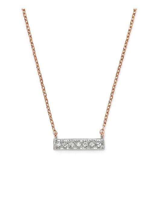 Dana Rebecca | Multicolor 14k White & Rose Gold Sylvie Rose Mini Bar Necklace With Diamonds | Lyst